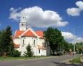 Orosháza belvárosa a katolikus templommal