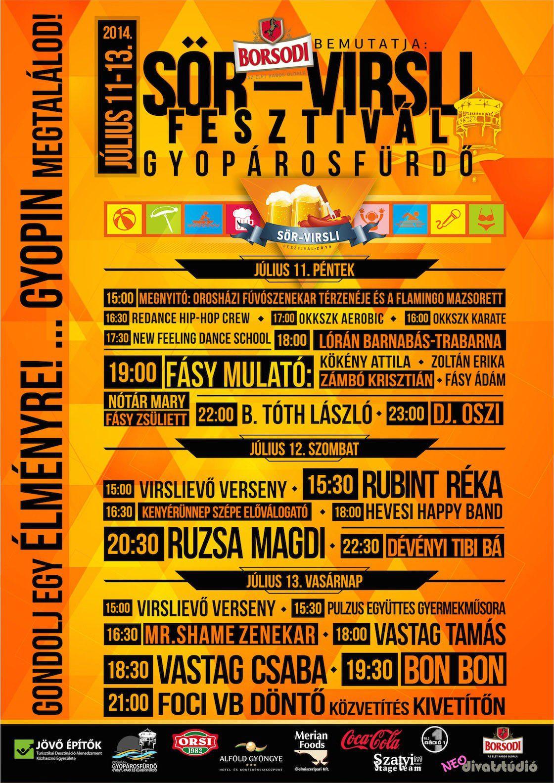 Orosháza-Gyopárosfürdő Sör-Virsli Fesztivál 2014 július 11-13.