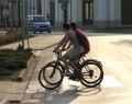Kerékpárosok Orosházán