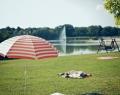 Parkfürdő és a tó