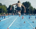 A parkfürdő 50 méteres sportmedencéje