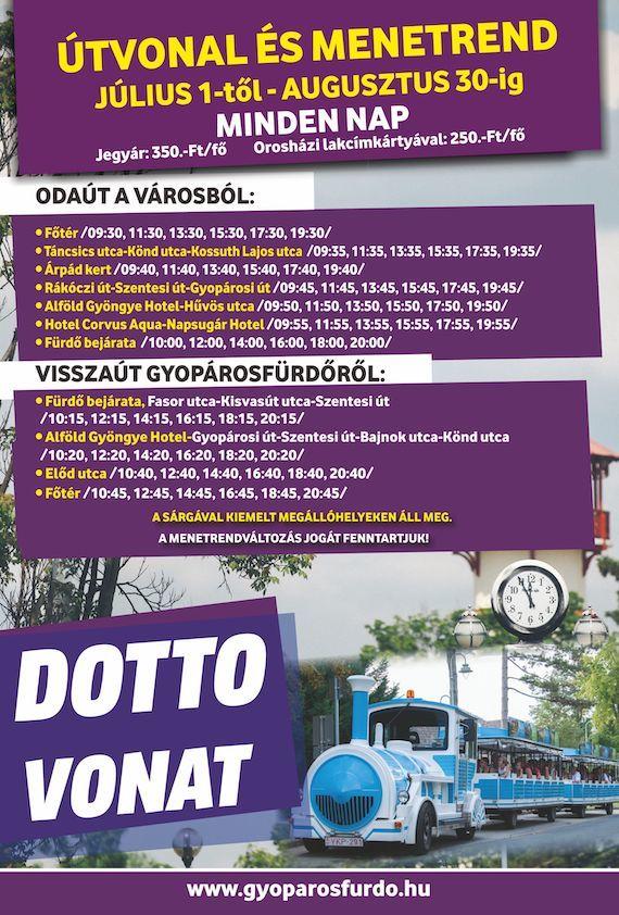 Gyopárosfürdő Dotto 2020. nyár