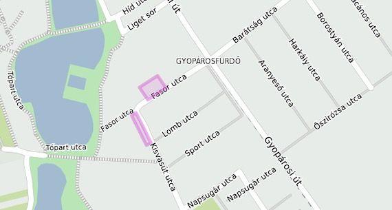 Lokacija zona za plaćeno parkiranje u Oroshaza