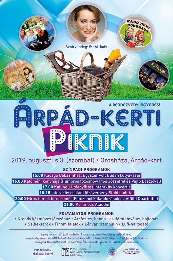 2019.08.03. Árpád Kerti Piknik plakát