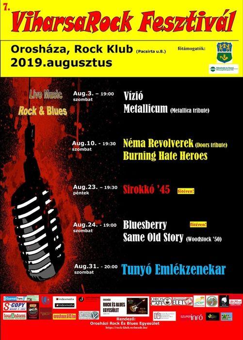 2019. augusztus. VII. ViharsaRock Fesztivál