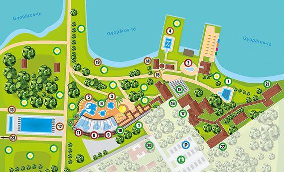 Gyopárosfürdő térkép 2021.09.01-től